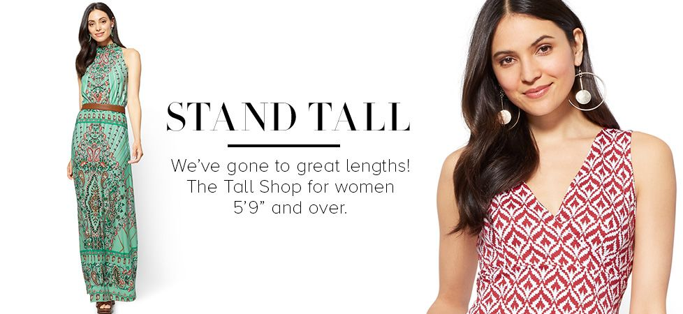 Tall Women's Clothes | Shop Stylish Tall Clothing Styles | NY&C