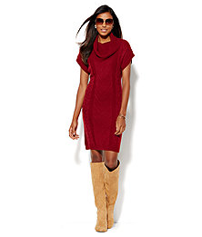 Cowl-Neck Sweater Dress  - New York & Company
