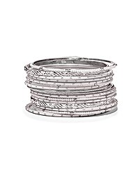 17-piece-silvertone-bangle-bracelet-set-
