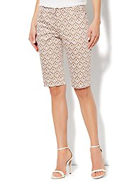 7th Avenue Bermuda Short - Ikat Print