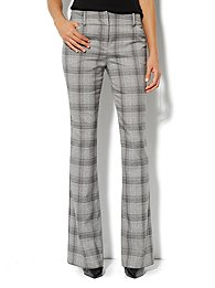 7th Avenue Bootcut Pant - Plaid