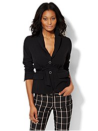 7th Avenue Design Studio Belted Jacket - Modern Fit - Double Stretch