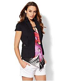7th Avenue Design Studio Jacket - Short-Sleeve Jacket - Black