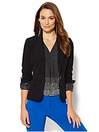 7th Avenue Design Studio One-Button Jacket - Signature Fit - Double Stretch