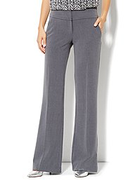 7th Avenue Design Studio Pant - Signature Fit - Wide Leg Trouser - Ellington Heather Grey