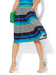 7th Avenue Design Studio - Striped Full Skirt