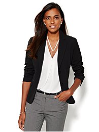 7th Avenue Design Studio Two-Button Jacket - Signature Fit - Double Stretch