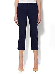 7th Avenue Pant - Cuffed Crop - Sateen