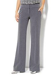 7th Avenue Pant - Signature Fit - Wide Leg Trouser - Ellington Heather Grey