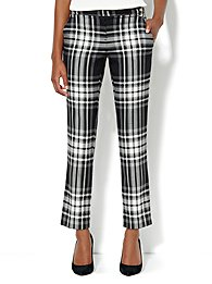7th Avenue Slim Ankle Pant - Plaid