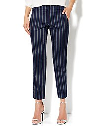 7th Avenue Slim Ankle Pant - Stripe