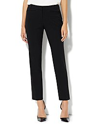 7th Avenue Slim Zip Ankle Pant - Black