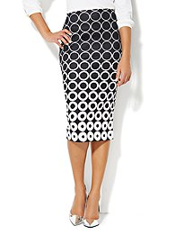 7th Avenue Suiting Collection - Pencil Skirt - Geo Print