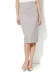 7th Avenue Suiting Collection - Pencil Skirt - Grey