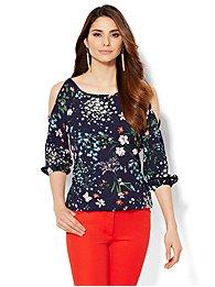 7th-avenue-design-studio-cold-shoulder-blouse-floral-