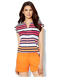 7th-avenue-design-studio-double-pocket-blouse-stripe