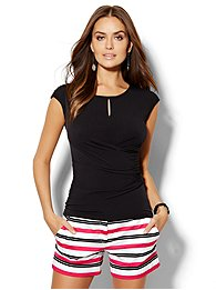 7th-avenue-design-studio-draped-keyhole-tee-