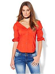 7th-avenue-design-studio-madison-stretch-shirt-v-neck-off-the-shoulder