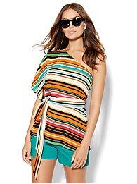 7th-avenue-design-studio-one-shoulder-blouse-stripe-