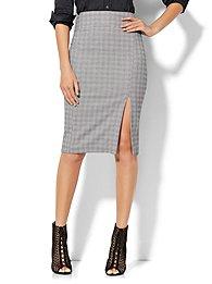 7th-avenue-design-studio-pencil-skirt-black-white-plaid-