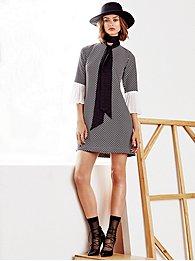 7th-avenue-design-studio-pleated-bell-sleeve-dress-