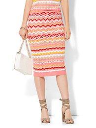 7th-avenue-design-studio-pleated-knit-skirt-zigzag-stripe-