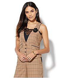 7th-avenue-design-studio-three-button-vest-khaki-plaid-