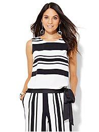 7th-avenue-design-studio-tie-waist-shell-stripe-