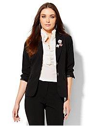 7th avenue design studio - two-button jacket - signature fit - double stretch - petite