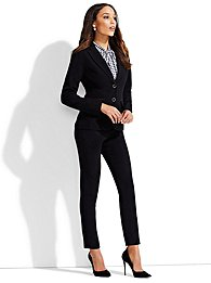 7th avenue design studio - two-button jacket - signature fit - double stretch - tall