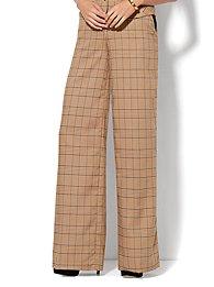 7th-avenue-design-studio-wide-leg-pant-khaki-plaid-