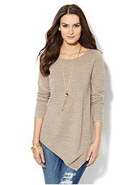 Asymmetrical Tunic Sweater
