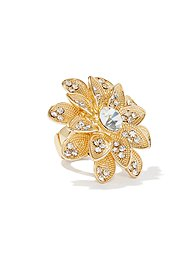 Bling Flower Stretch Ring