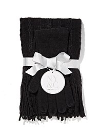 Cable-Knit Scarf & Gloves Gift Set