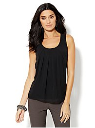 Chiffon-Front Camisole Top