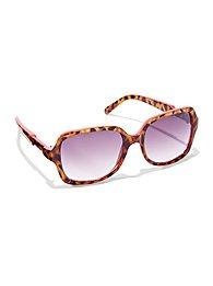 City Animal Print Sunglasses