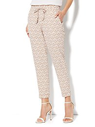 City Crepe - 7th Avenue Cuffed Ankle Soft Pant - Print