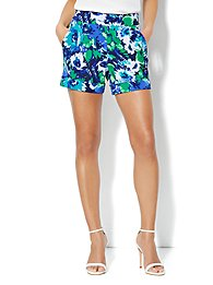 City Crepe - 7th Avenue Soft Short - Abstract-Floral Print