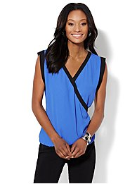 Colorblock Sleeveless Blouse