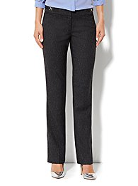 Crosby Street Straight Leg Pant - Black Tweed