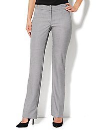 Crosby Street Straight Leg Pant - Black/White - Average