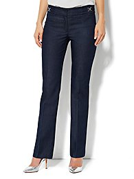 Crosby Street Straight Leg Pant - Hidden Blue