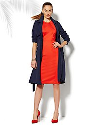 Double-Breasted Soft Trench Coat