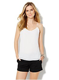 Double-Layer Chiffon Cami