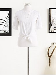 Eva Mendes Collection - Allison Tie-Front Shirt