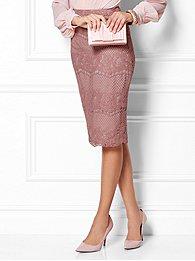 Eva Mendes Collection - Ashley Lace Pencil Skirt