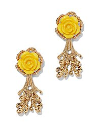 Eva Mendes Collection - Coral & Rosette Earring