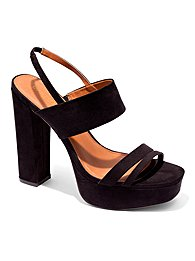 Eva Mendes Collection - Faux-Suede Platform Sandal