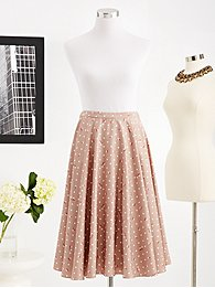 Eva Mendes Collection - Fiona Full Skirt - Polka-Dot Rose Print