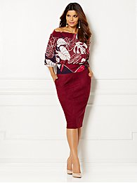 Eva Mendes Collection - Jane Tie-Waist  Blouse - Print